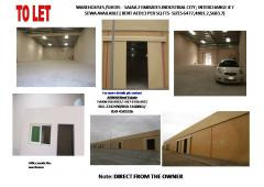 Sajaa 2 EIC , Scetor 7 - Warehouse/shed SEWA available