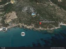 seaside plot in island Thasos
